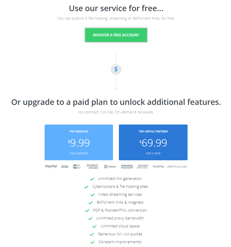 Offcloud - prices